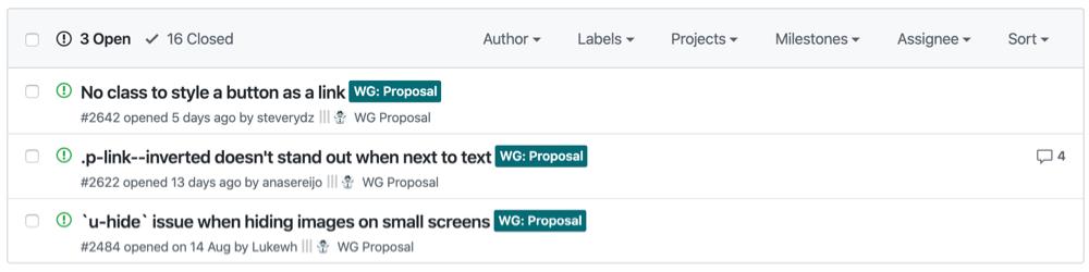 Vanilla framework repo proposals.